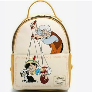 NWT Loungefly Pinocchio Mini Backpack